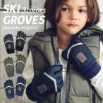 手袋 キッズ 男 男子 雪遊び 子供 スキー グローブ ジュニア シンプル [ スキー手袋 スキーグローブ 手ぶくろ 子ども 5本指 防寒 裏起毛 メール便可 ]