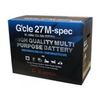 G&Yu 27MSpec 2台セット マリン レジャー サブ用 ディープサイクル(ACデルコ M27MF 互換)G'cle 27M-spec バッテリー