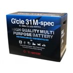 G&Yu 31M マリン レジャー サブ用 ディープサイクル (ACデルコ M31MF 互換)G'cle 31M-spec  バッテリー