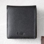 メンズ二つ折財布 ブラック