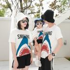 家族服 ペアルック カップル 半袖 ペア Tシャツ コーデ  お揃い ご夫婦 親子服 春夏服 人気
