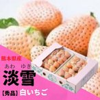 【お歳暮】いちご 白いちご 【淡雪】あわゆき  秀品(L〜3Lサイズ) 約270g×2パック