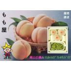 岡山白桃 3〜4個(約800g)とマスカットオブアレキサンドリア1房(500g)の詰め合せ ふるさと物産品