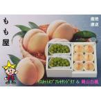 岡山白桃(4〜6個)(約1.4kg)とマスカットオブアレキサンドリア加室2房(1kg)の詰め合せ ふるさと物産品