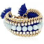 """アクセサリー Ettika Bodacious Royal Blue and Mint Jade Bracelet 8""""+1"""" Extender 並行輸入品"""