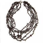 ショッピングGARNET アクセサリー Garnet Necklace Red 01 Genuine Crystal Empress 6 Strand Gemstone Grand Goddess 16 (Gift Box) 並行輸入品