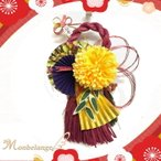 しめ飾りパープル 送料無料 迎春 正月 飾り しめ縄 玄関 花 リース