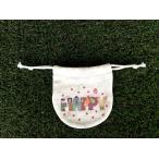 まるころ巾着(小) HAPPY モンゴベス 日本製 巾着袋 アクセサリー袋 小物入れ ミニポーチ ロゴ バレンタイデー ホワイトデー MONGOBESS