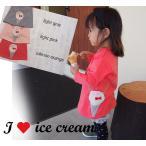 アイスクリームポシェット長袖AラインチュニックTシャツ日本製