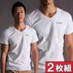 DIESEL ディーゼル お得な2枚組みセット Vネック Tシャツ 半袖 UM TEE-MICHAEL 2PACK 男性下着 メンズ 下着
