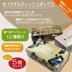 ショッピングティッシュ ティッシュボックス オリジナル オーダーメイド 名入れ 写真入り 名前入り ティッシュBOX 箱ティッシュ プリント 小ロット 5個セット 箱のみ
