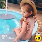 子供水着 女の子 キッズ ベビー ワンピース 帽子付き 2点セット トレンド 80 90 100cm 送料無料