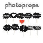 フォトプロップス 当店オリジナル 11点セット(Photo Booth Prop) 結婚式 二次会 誕生日会 パーティーで大活躍 ウエディンググッズ パーティーグッズ