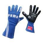 PUMAレーシンググローブ PODIO (ポディオ)ブルー 外縫い シリコンラバー タイプ FIA公認 040839-03