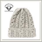 HIGHLAND2000(ハイランド2000) BOB CAP(ウール ニット帽) LGW(グレー)[ケーブル編み/毛糸][キャップ/帽子/ビーニー][メンズ/レディース/男女兼用]