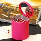 灰皿 卓上灰皿 おしゃれ フタ 蓋 携帯灰皿 ケース Ashtray ピンク