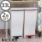 ゴミ箱 分別 おしゃれ キッチン 蓋付き ダストボックス kcud30 クードスリムペダル 2個セット