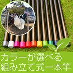 物干し竿 組み立て式 1本竿 サビない 32パイ 3本 長さ 4m ブロンズ色 キャップの色が選べる 屋外 屋内 ベランダに最適な ものほし竿 洗濯ざお