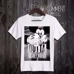 ノーコメントパリ Tシャツ NO COMMENT Paris outta メンズ S M オーガニック BIO ミッキーマウス 人気 セレブ