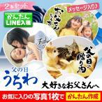父の日 2021 オリジナル 写真入り うちわ 2枚入り プレゼント ギフト 子ども 孫 父 おじいちゃん 両親 記念 写真 印刷 赤ちゃん 家族 犬 猫 ペット 花以外