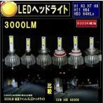 LEDヘッドライト LEDヘッドランプ 超高輝度LED (H1 H3 H7 H8 H11 HB4 H4HILo HB3) 6000K 3000LM