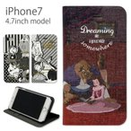 ディズニー 美女と野獣 iPhone7 4.7インチモデル対応 手帳型ケース スタンド機能付き kdn-428a dn-428b