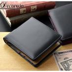 メンズ 財布 二つ折り メンズ 二つ折り財布 馬革短財布 本革 ビンテージ ブランド  デコローゾ かっこいい ブラック デコローゾ Decoroso  CL-1220