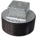 プラグ 可鍛鋳鉄製管継手 (白) 日立金属 P (白) (1-1/2B)