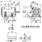 単相モータ コンデンサ始動式 開放防滴型 モートル 日立産機システム EFOUP-KR 400W
