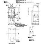 漏電ブレーカ BKW-N型 単相3線専用 パナソニック(Panasonic) BKW3250915K