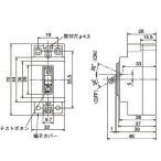安全ブレーカ形漏電遮断器〈NV-L〉 三菱電機 NV-L22GR 20A 100-200V 15MA G