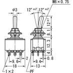 トグルスイッチ MS-500シリーズ 防滴タイプ ミヤマ電器 MS-500N-B