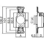 埋込コンセント パナソニック(Panasonic) WF1415WK 3P15A