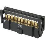 基板対電線接続用コネクタ 2.54mmピッチ PSシリーズ MILタイプ 圧接式ソケット 1.27mmピッチフラットリボンケーブル接続用 クローズドエンドタイプ