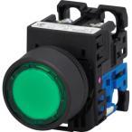 照光押しボタンスイッチ AR22シリーズ 平形(Φ24) 富士電機 AR22F0L-10E3G 緑