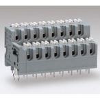 スクリューレス端子台 2段型 プリント基板用 サトーパーツ ML-3300-12P グレー