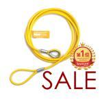 在庫限りの特別価格★ビニールコーティングワイヤー 8-10mm 1M~4Mカット販売&両端加工 通常販売の半額★