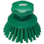 ヴァイカン 業務用 清掃用品 掃除道具 ハンドブラシ 丸 No.3885 グリーン