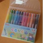 【メール便対応専用】 ぺんてる くるりら(クルリラ)くれよんタッチのくりだし色鉛筆 12色セット
