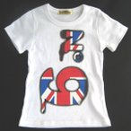 No.9ユニオンジャックナンバーナインプリントTシャツ ホワイト/BANK KIDS