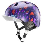 bern(バーン) ヘルメット キッズモデルNINA(自転車、スケートボード) BE-VJGSPJV-12 Satin Purple Jungle S/M