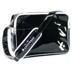 ショッピングエナメル [コンバース] ショルダーバッグ エナメルショルダー Mサイズ C863053 ブラック×ホワイト(BKWH)