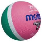 molten(モルテン) ドッジボール ライトドッジ 軽量1号球 緑×ピンク SLD1MP