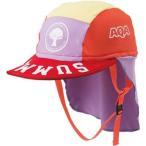 AQA(エーキューエー) ジュニア マリンスポーツ キャップ UV DRY フラップキャップキッズ KW-4468A ピンク×パープル S