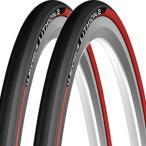 2本セット ロードバイク タイヤ ミシュラン リチオン2 自転車タイヤ 700×23C レッド