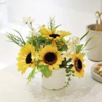 Yahoo!光の楽園ショップ モントブレッテ光触媒造花 ひまわり 光の楽園 プティサンフラワー、新商品