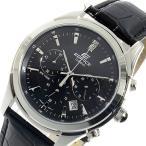 ★レビューでクロスプレゼント★ カシオ CASIO エディフィス クロノ クオーツ メンズ 腕時計 EFR-517L-1AV ブラック