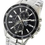 カシオ CASIO エディフィス EDIFICE クロノ クオーツ メンズ 腕時計 EFR-546D-1AV ブラック 1年保証