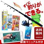 動画マニュアル付き  釣り竿セット サビキ釣り入門セット TOISTAX 釣具よくばりセット 釣り竿 初心者 釣り具セット 子供 ルアー エギング ちょい投げ 入門用