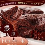 濃厚チョコレートのトリュフケーキ(フォンダンショコラ)2個入 かわいいプチバッグにお入れします(個包装) バレンタインデー ホワイトデー